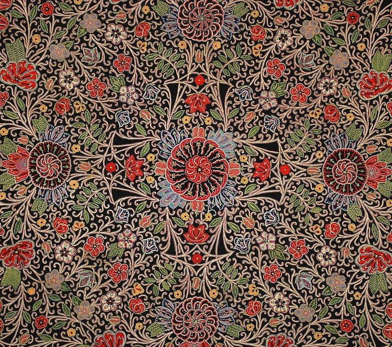 Antique Impressive Persian Rescht Large Embroiderysold