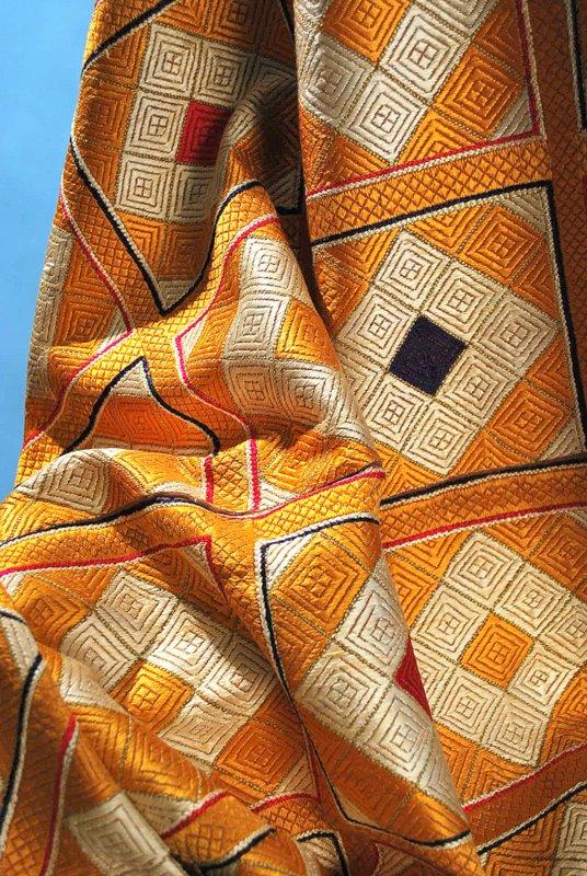 Antique Densely Embroidered Phulkari Bagh Wedding Textile